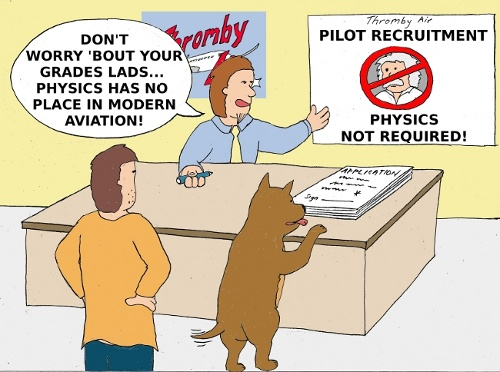 Aviation: Physics Not Required to be an Airline Pilot